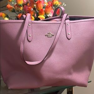 Reversible Lilac Coach Tote